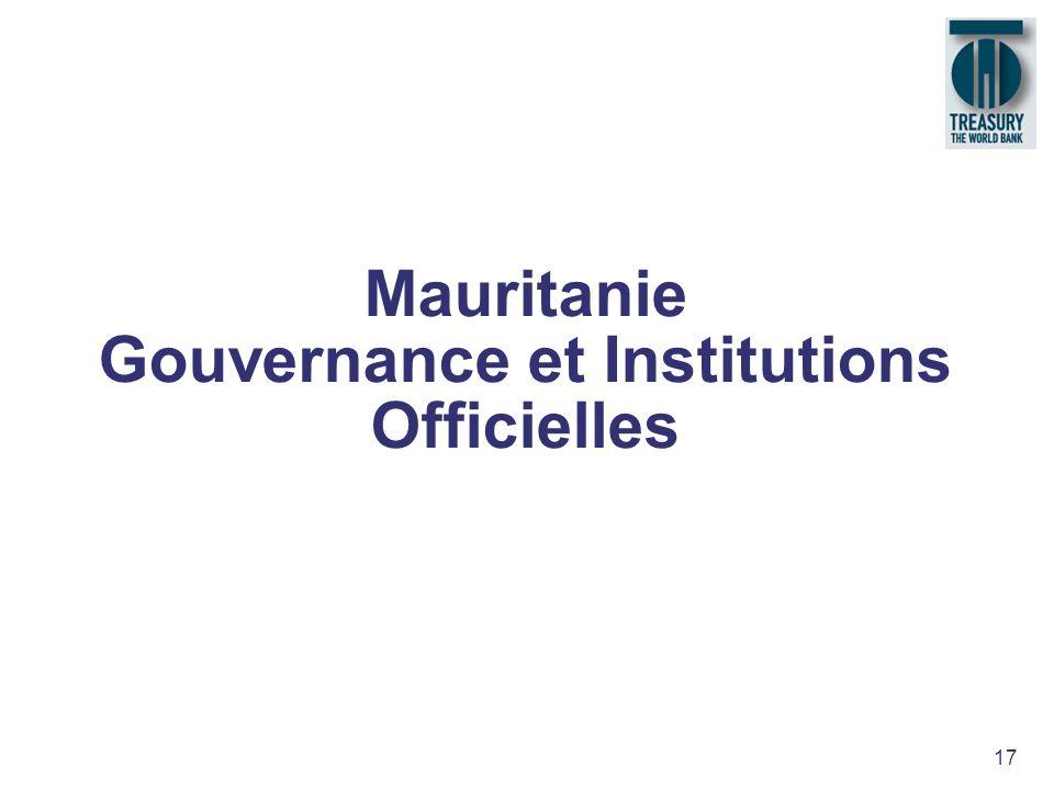 17 Mauritanie Gouvernance et Institutions Officielles