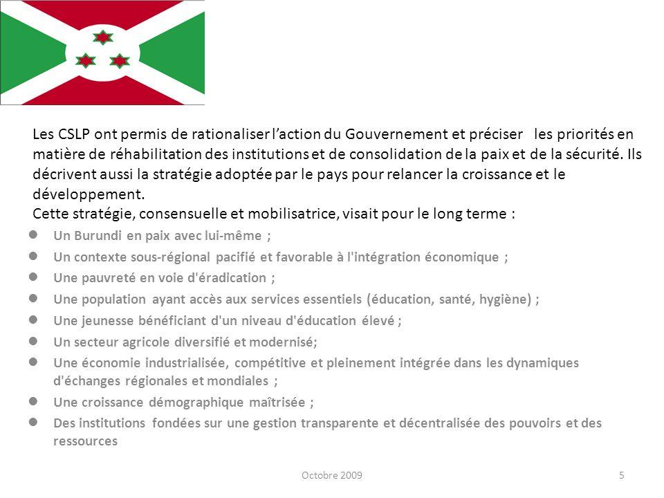 6 Pour concrétiser ces objectifs généraux, le Gouvernement a fondé son action sur les quatre axes stratégiques suivants : Bonne Gouvernance, Relance économique, Développement social, Lutte contre le VIH/SIDA.