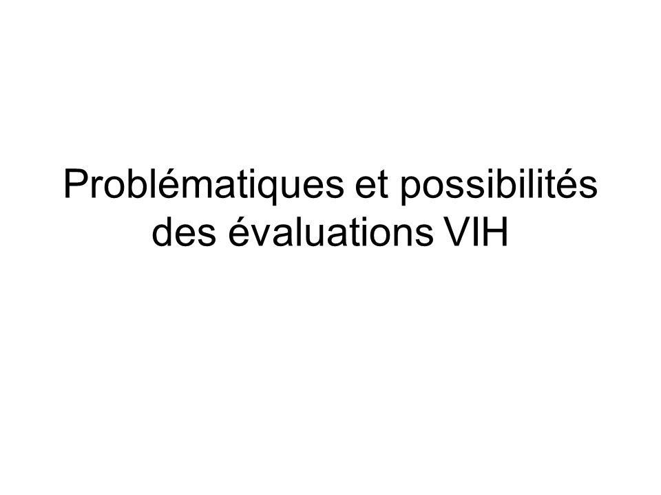 Problématiques et possibilités des évaluations VIH