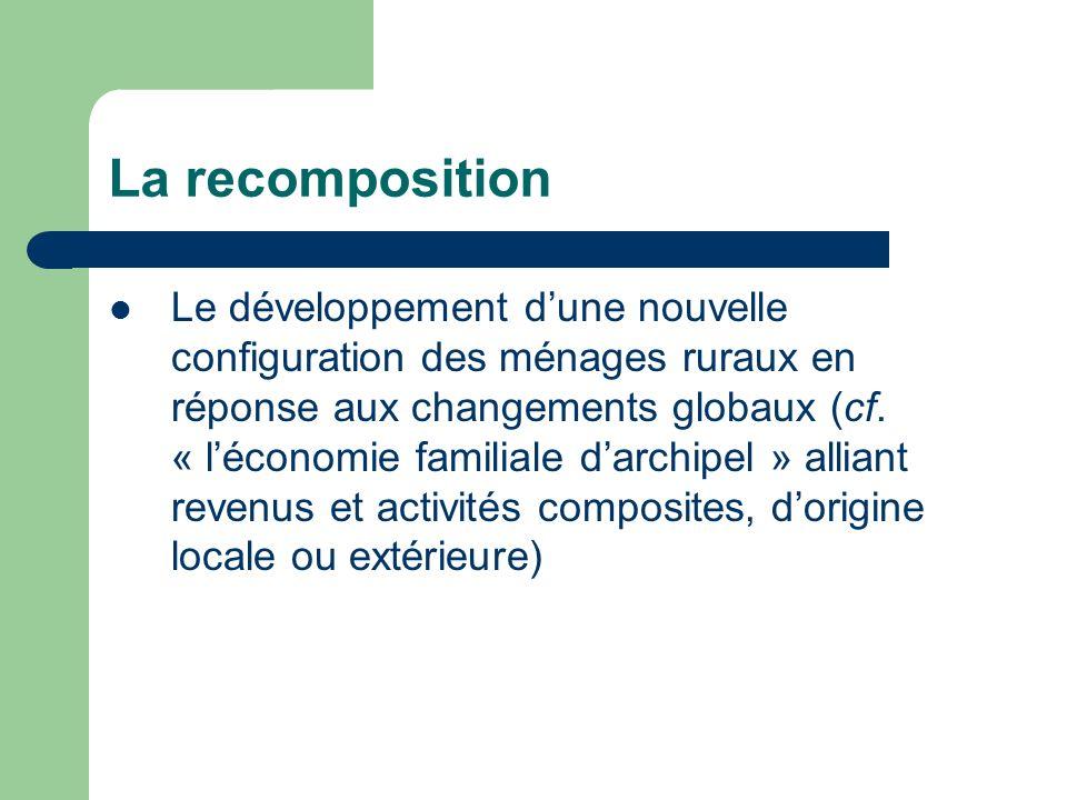 La recomposition Le développement dune nouvelle configuration des ménages ruraux en réponse aux changements globaux (cf.