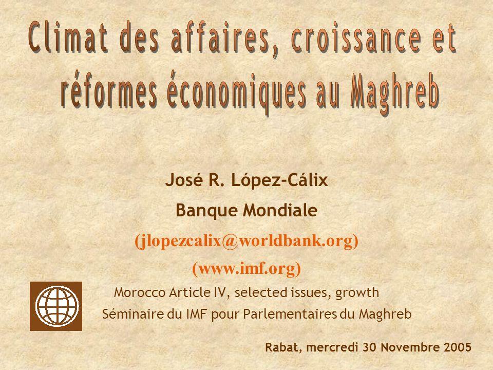 La libéralisation commerciale La réforme bancaire Le foncier industriel Le système judiciaire Les privatisations II) Les chantiers « inachevés»