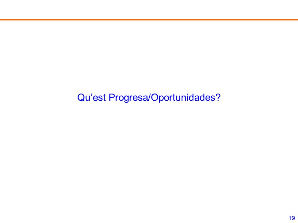 19 Quest Progresa/Oportunidades?