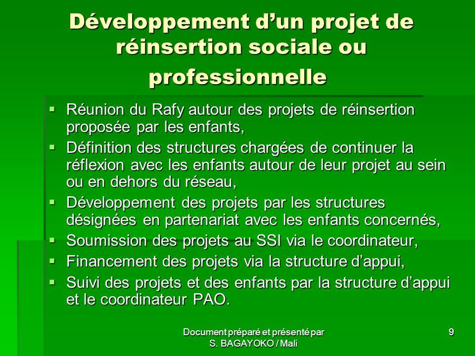 Document préparé et présenté par S.