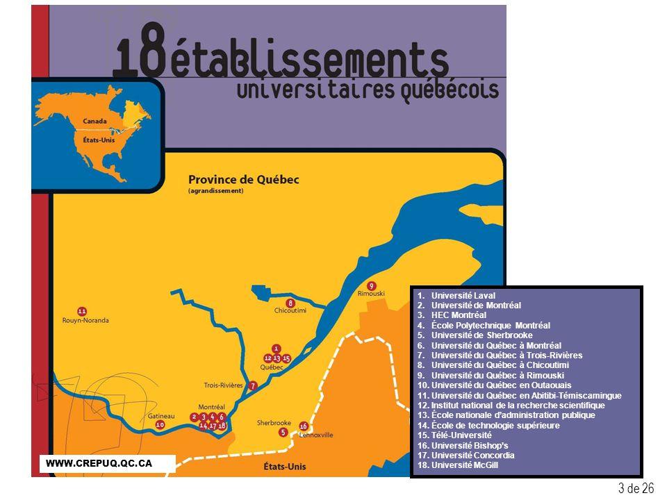 3 1. Université Laval 2. Université de Montréal 3.