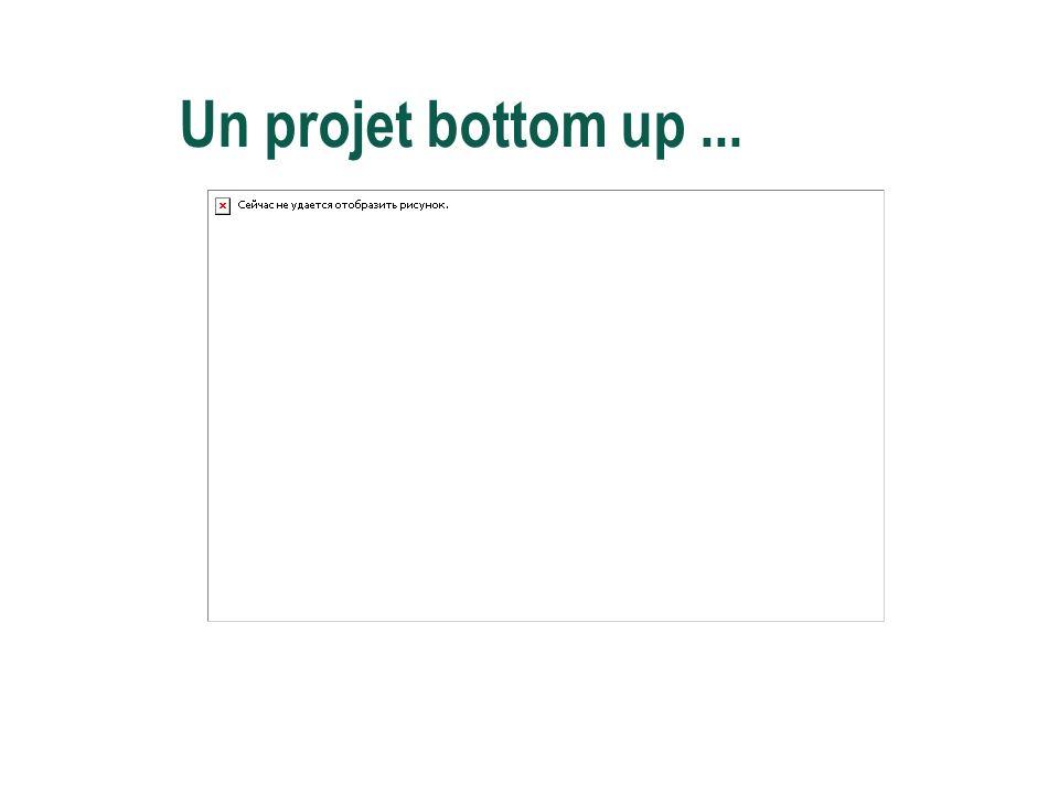 Un projet bottom up...