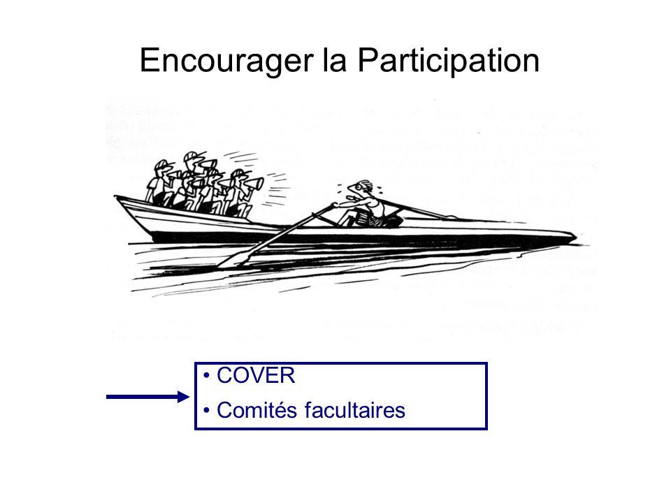 Encourager la Participation COVER Comités facultaires