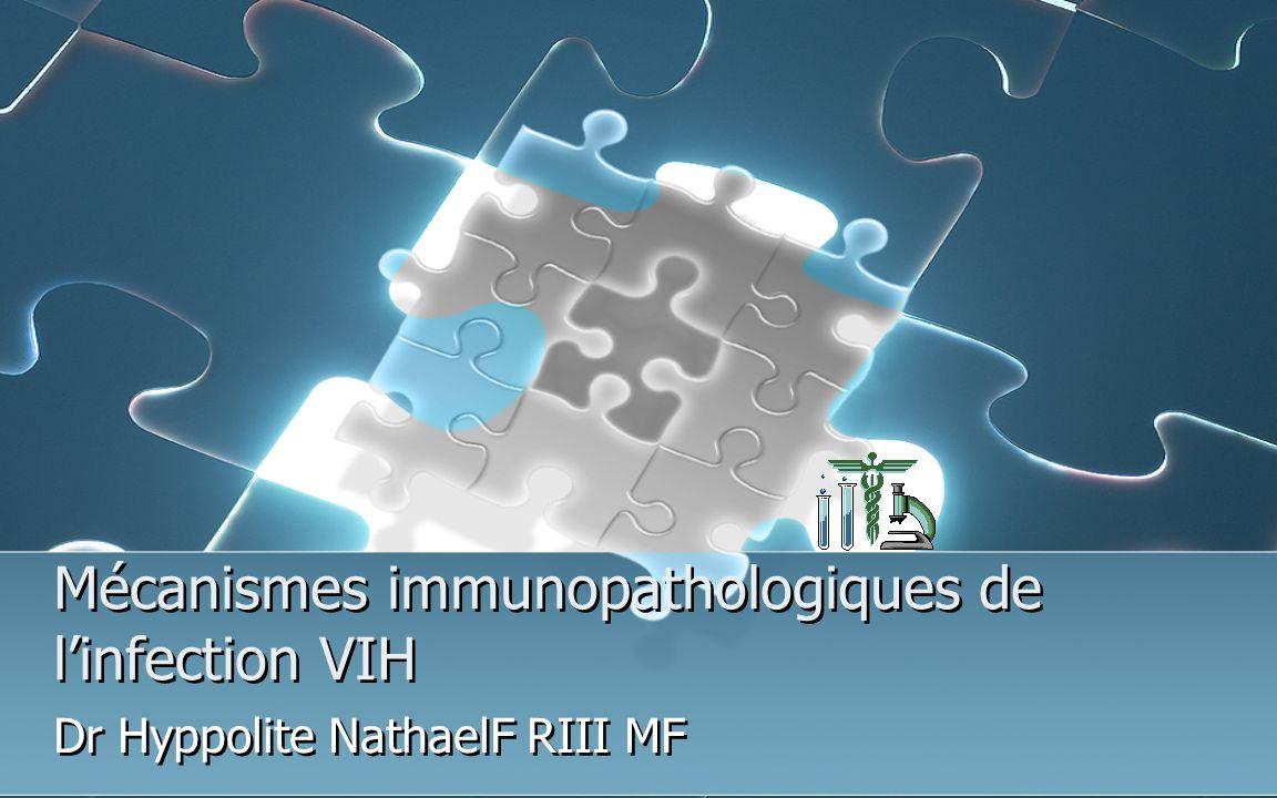 Mécanismes immunopathologiques de linfection VIH Dr Hyppolite NathaelF RIII MF