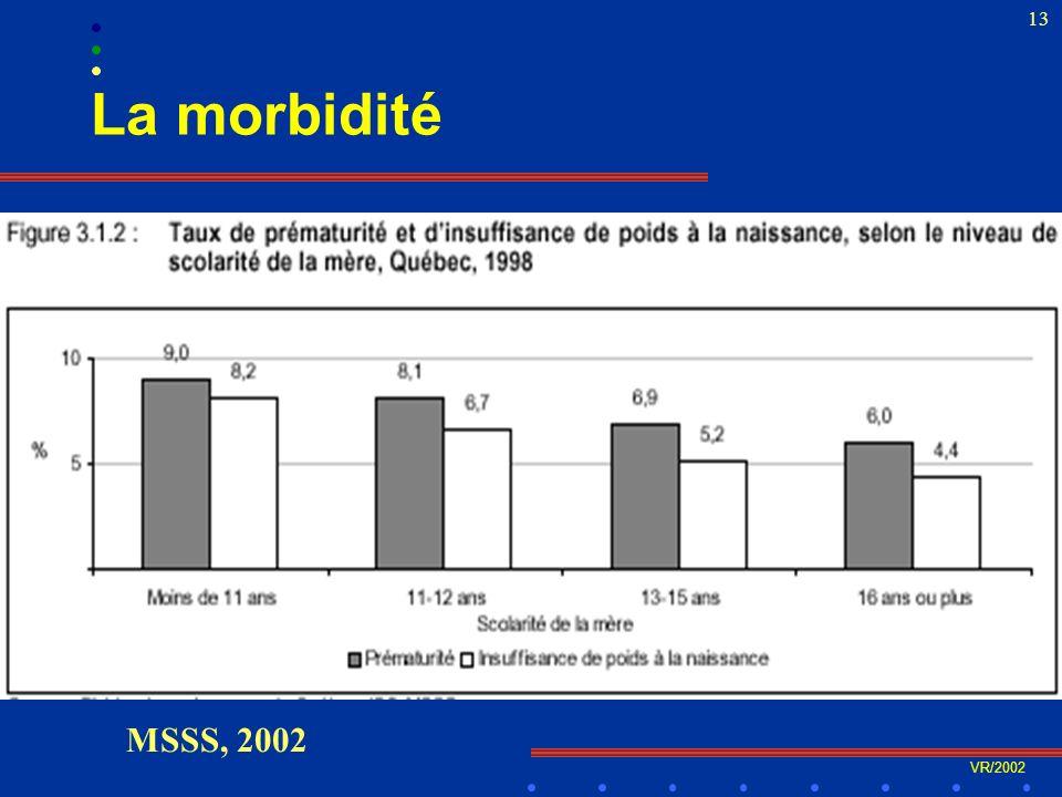 VR/2002 13 La morbidité MSSS, 2002