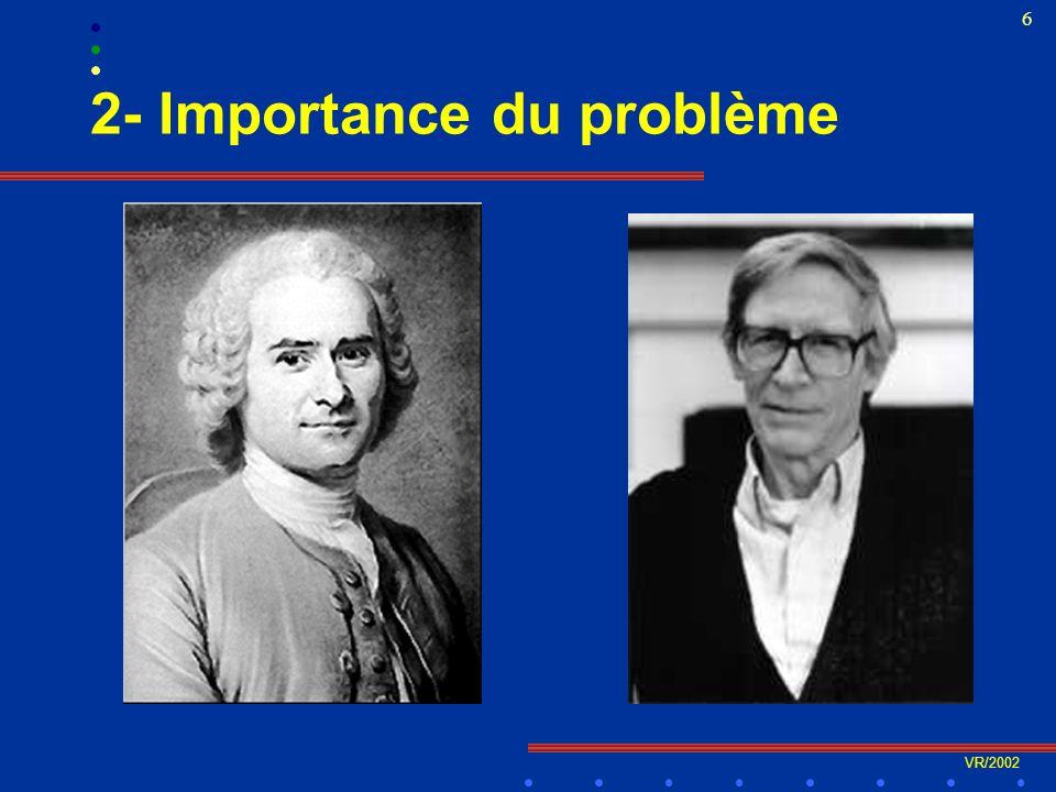 VR/2002 37 4- Les déterminants québécois D- Les conditions de vie et de travail l Le retour de limportance du revenu l Inégalités de revenus au Québec ?.