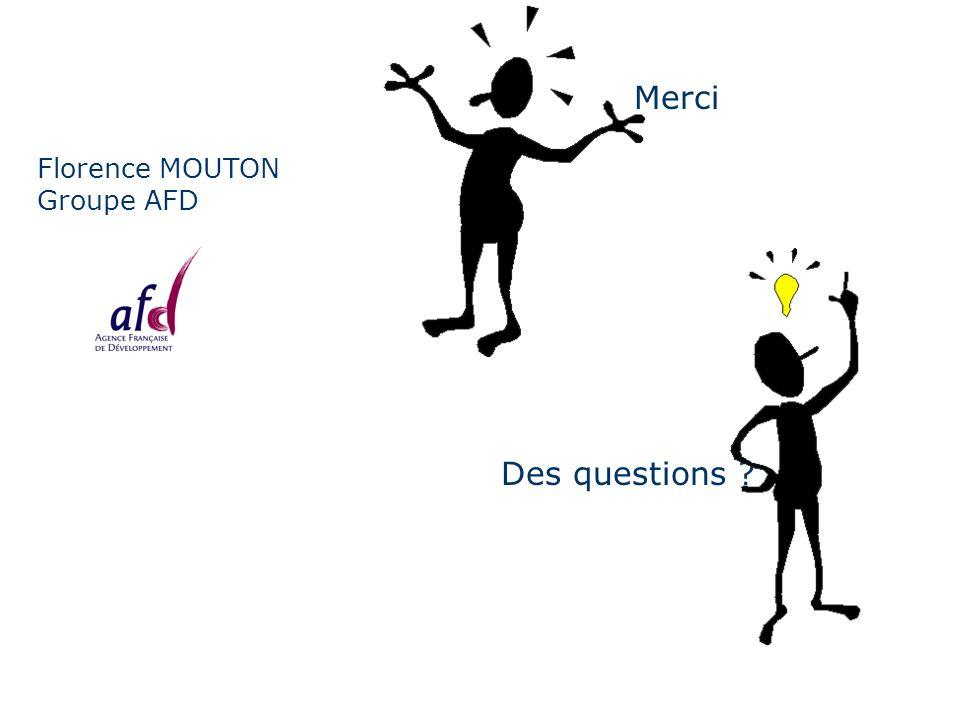 Florence MOUTON Groupe AFD Merci Des questions