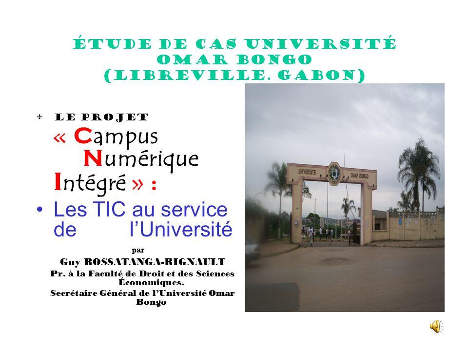 Étude de cas Université Omar Bongo (Libreville.