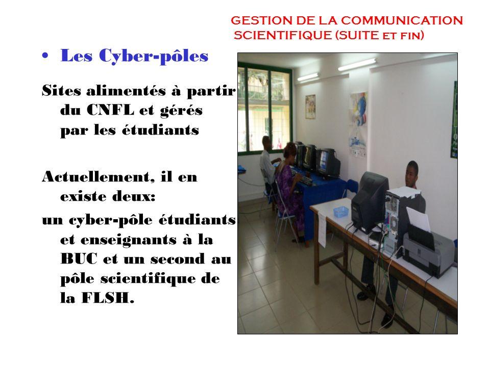 3. GESTION DE LA COMMUNICATION SCIENTIFIQUE Le Campus Numérique Francophone, implantation locale de lAUF permet: Le déploiement de dispositifs francop