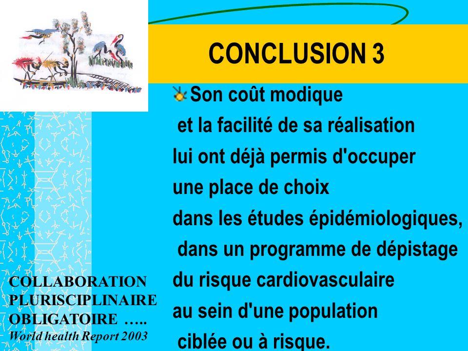 CONCLUSION 2 Le challenge de notre réseau pour ses prochaines années repose sur la prévention et la prise en charge précoce des maladies cardiovascula
