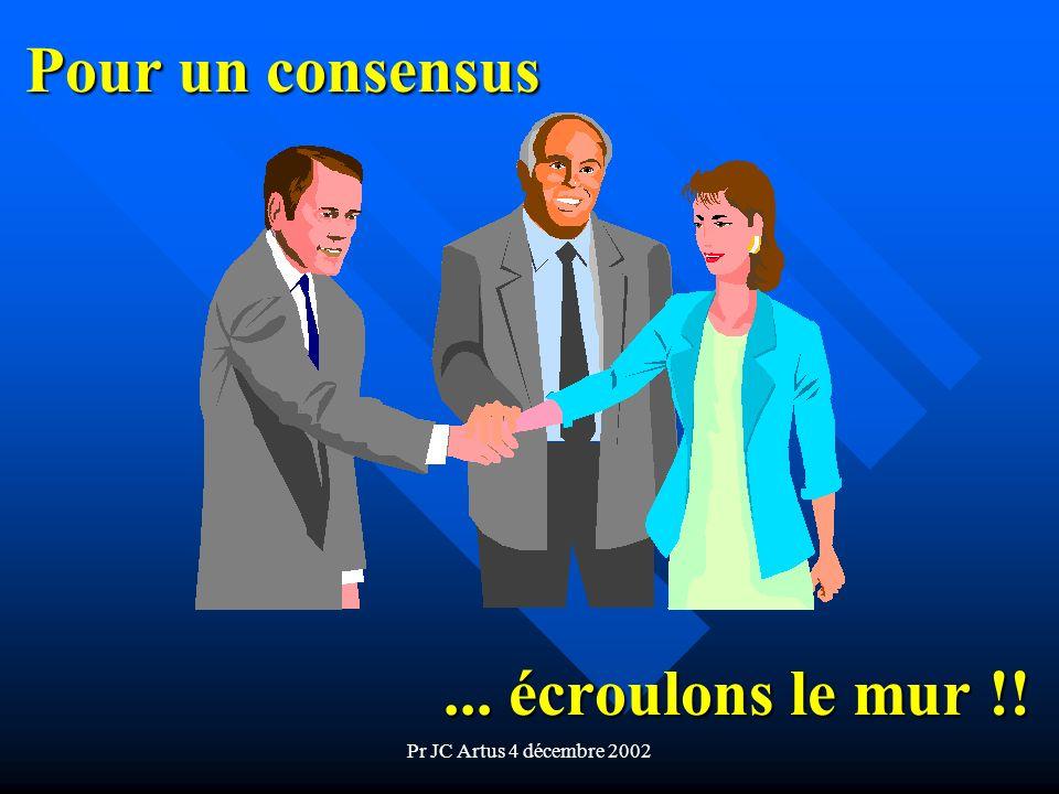 Pr JC Artus 4 décembre 2002 Pour un consensus... écroulons le mur !!