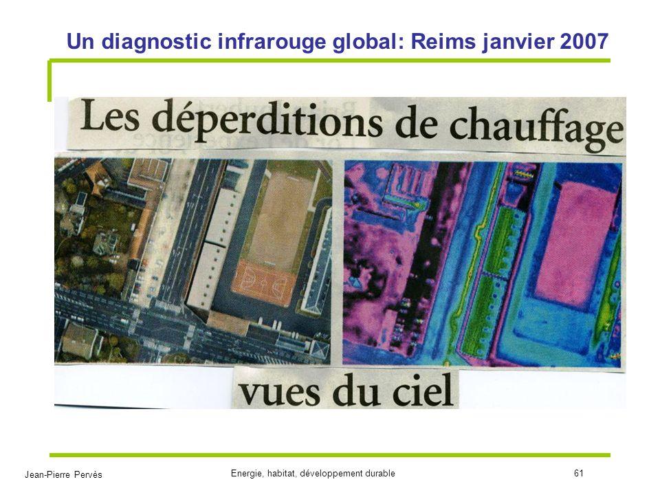 Jean-Pierre Pervès Energie, habitat, développement durable61 Un diagnostic infrarouge global: Reims janvier 2007