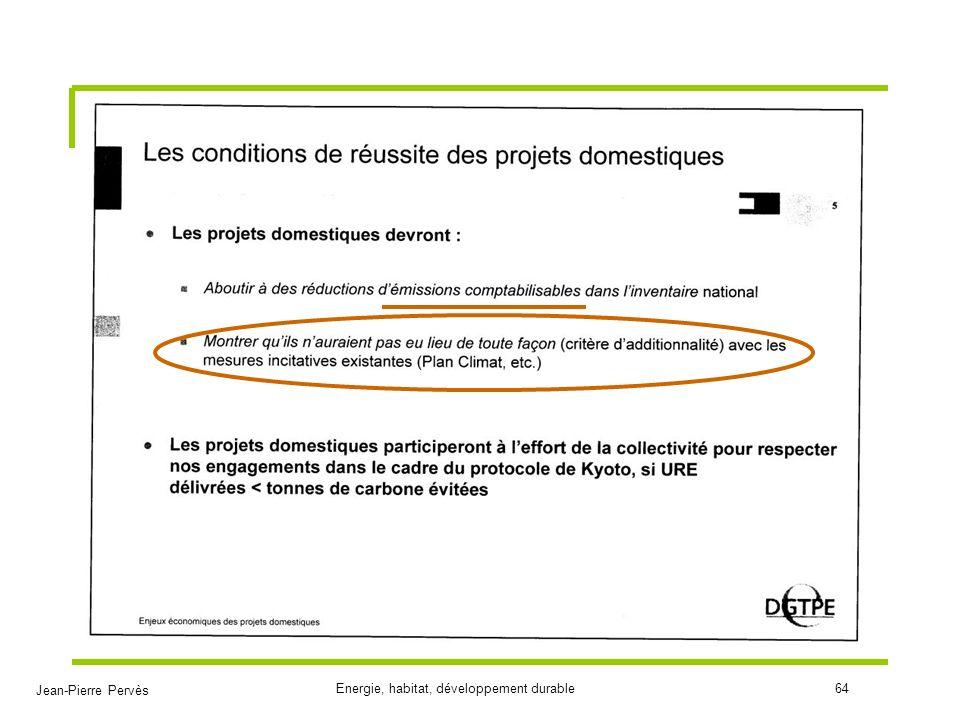 Jean-Pierre Pervès Energie, habitat, développement durable64