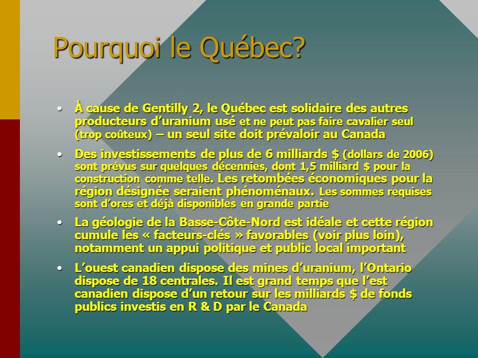 Pourquoi le Québec.