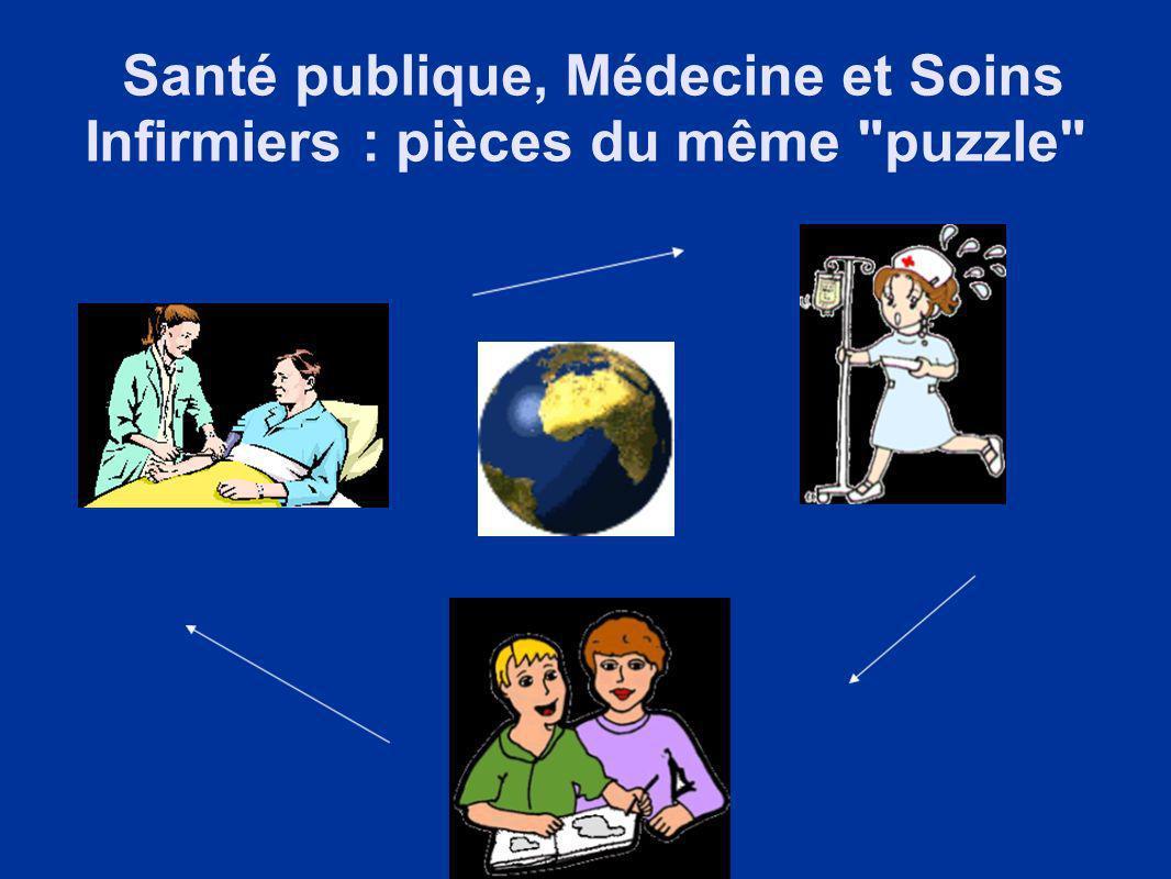Santé publique, Médecine et Soins Infirmiers : pièces du même puzzle