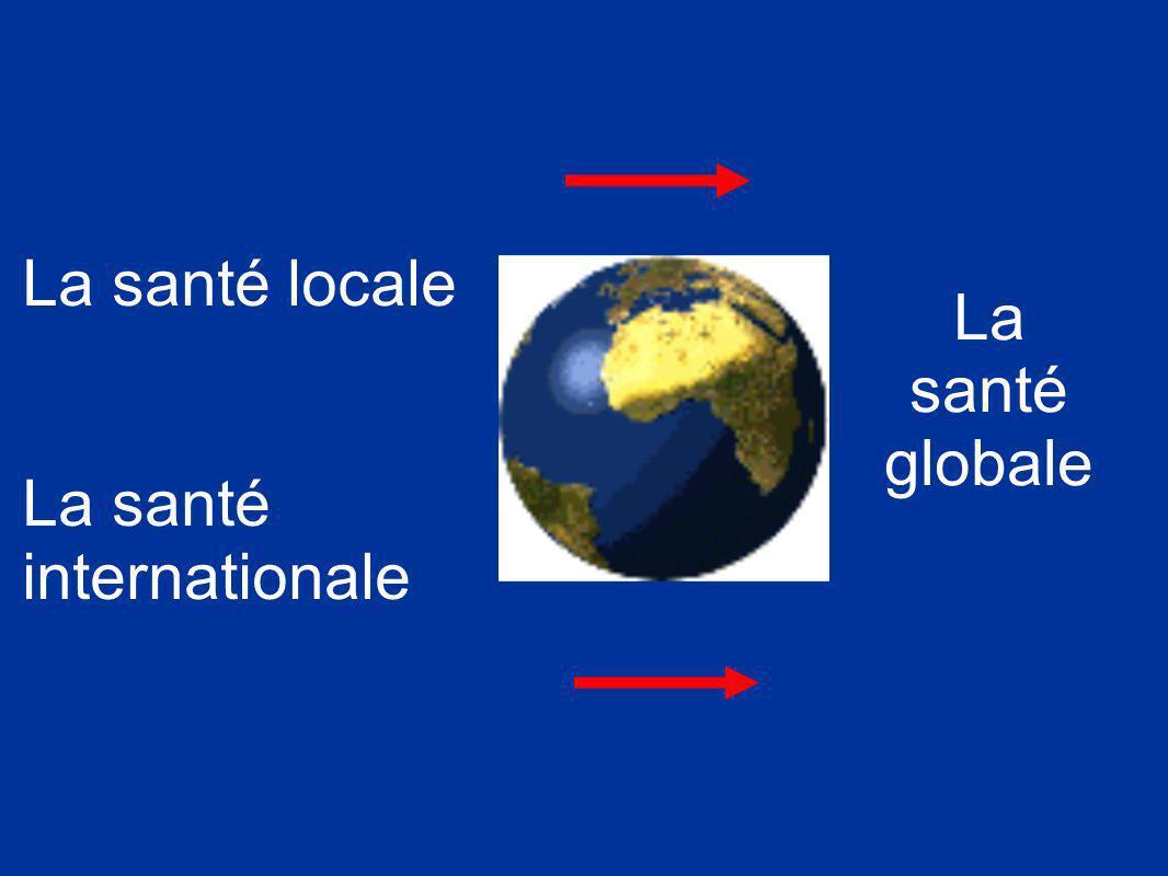 La santé locale La santé internationale La santé globale