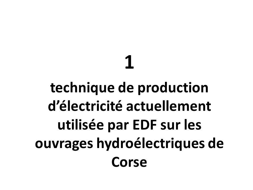 1 technique de production délectricité actuellement utilisée par EDF sur les ouvrages hydroélectriques de Corse