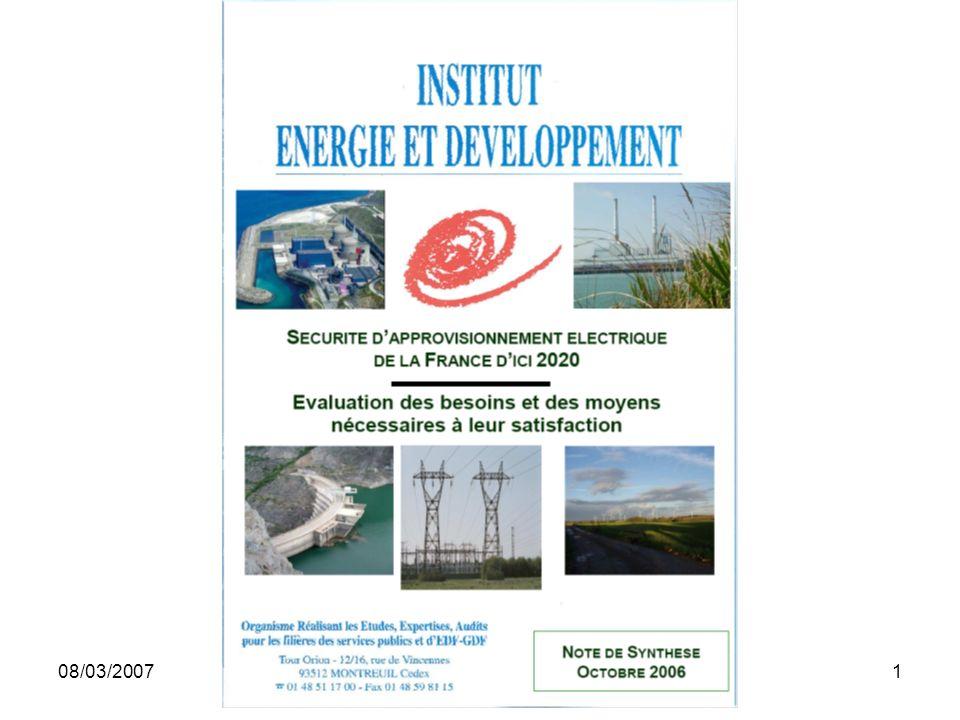 08/03/2007Institut Energie et Développement (pour UISBA) 1