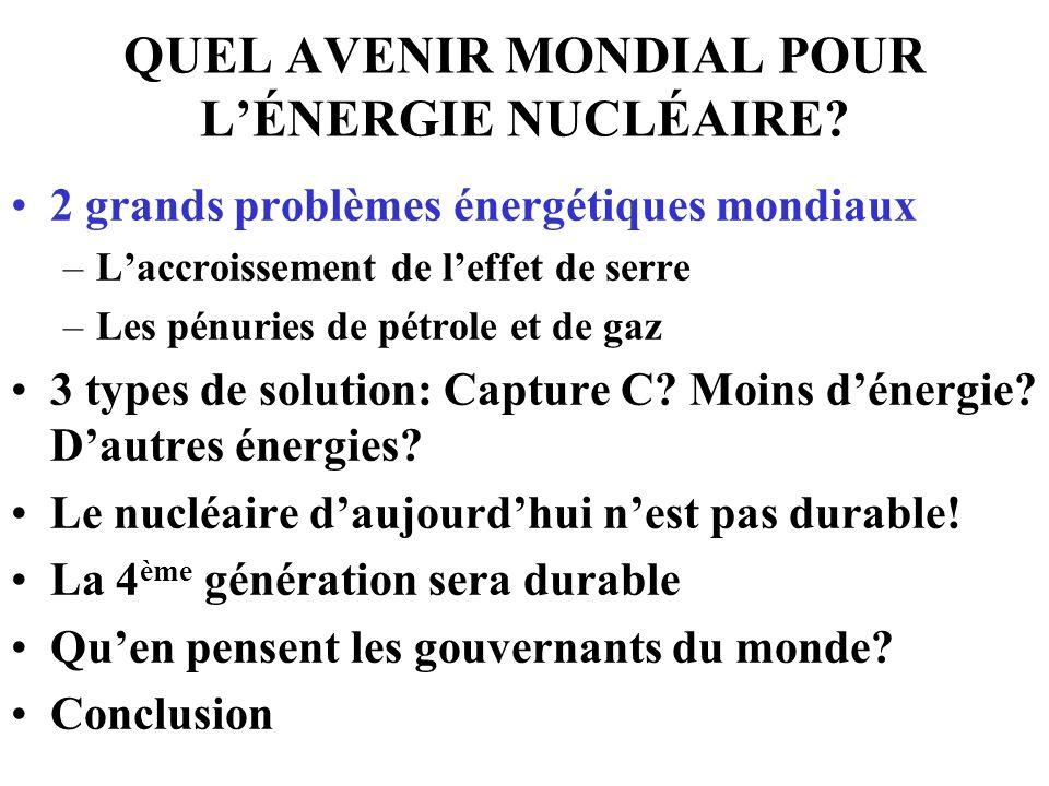 QUEL AVENIR MONDIAL POUR LÉNERGIE NUCLÉAIRE.