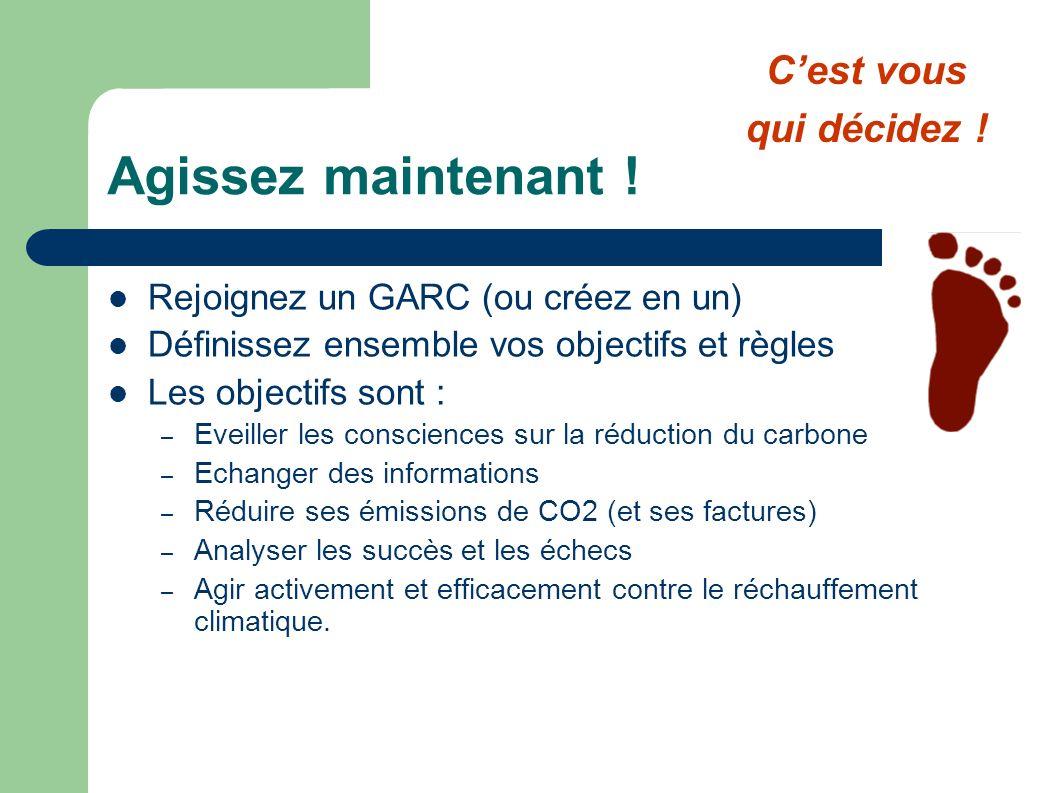 Agissez maintenant ! Rejoignez un GARC (ou créez en un) Définissez ensemble vos objectifs et règles Les objectifs sont : – Eveiller les consciences su