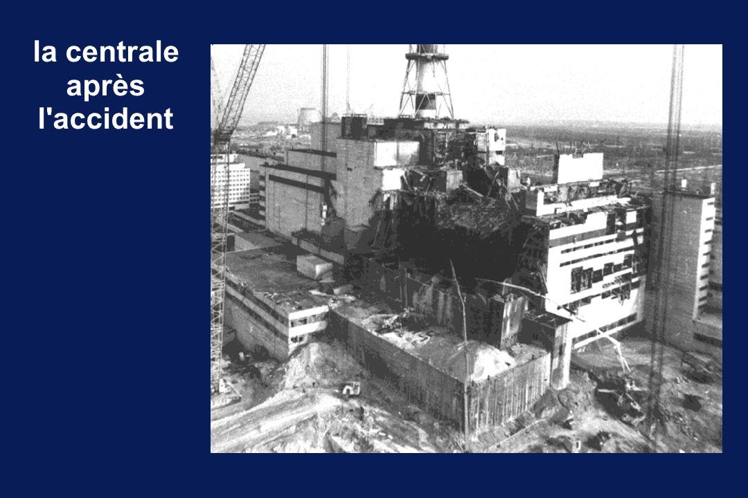 la contamination principalement : - gaz rares100MCi - césium 1372MCi - iodes (131 et 132)50MCi quantité d iode libérée : - Windscale UK, 195720 000Ci - Three Mile Island USA, 197915Ci - Tchernobyl URSS, 198650 000 000Ci - essais nucléaires18 000 000 000Ci