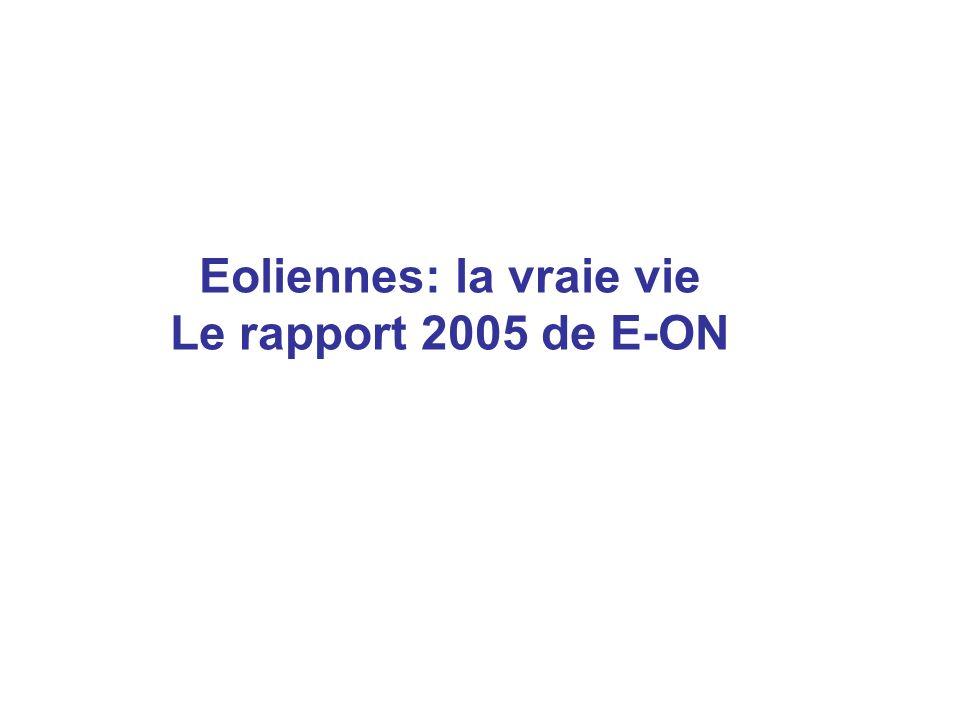 Eoliennes: la vraie vie Le rapport 2005 de E-ON