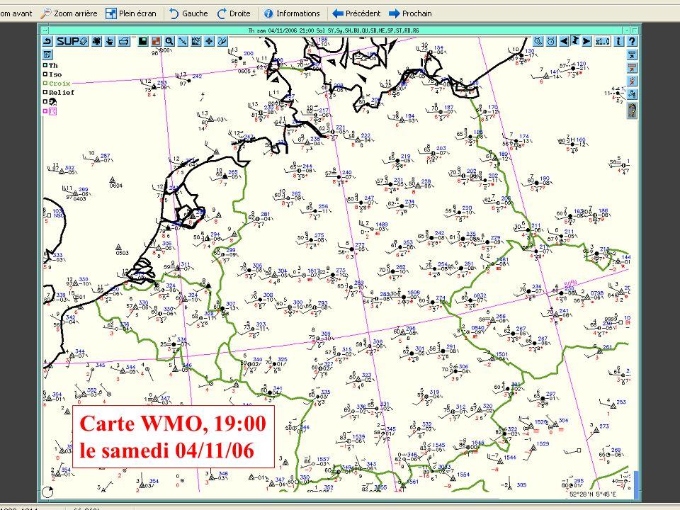 Carte WMO, 19:00 le samedi 04/11/06