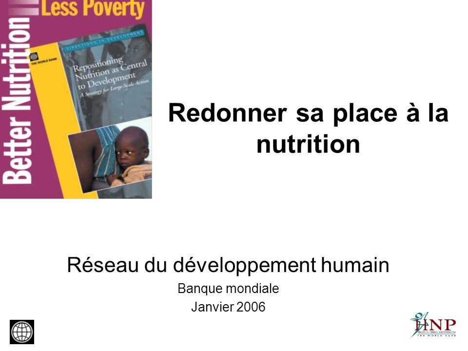Trois questions fondamentales Pourquoi est-il essentiel de réduire la malnutrition pour faire reculer la pauvreté .