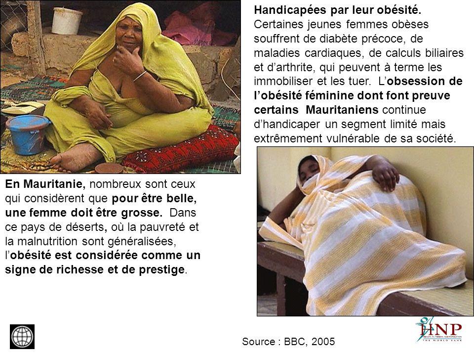 En Mauritanie, nombreux sont ceux qui considèrent que pour être belle, une femme doit être grosse. Dans ce pays de déserts, où la pauvreté et la malnu