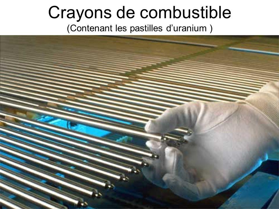 14 Crayons de combustible (Contenant les pastilles duranium )