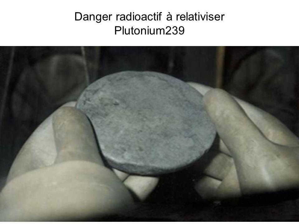 22 Danger radioactif à relativiser Plutonium239