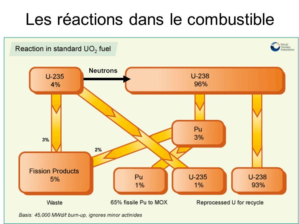 5 Les réactions dans le combustible Neutrons