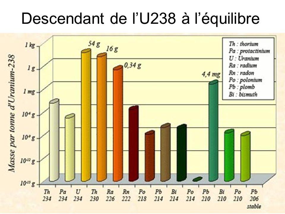 52 Descendant de lU238 à léquilibre