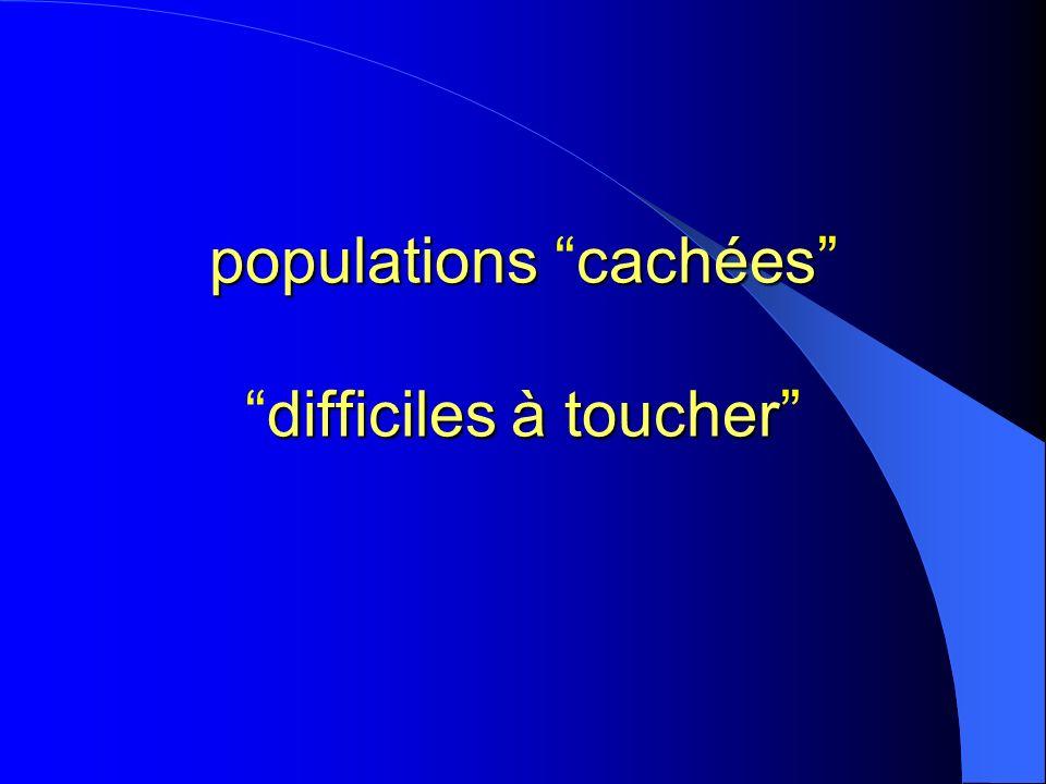 populations cachées difficiles à toucher populations cachéesdifficiles à toucher