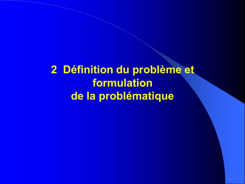 2 Définition du problème et formulation de la problématique