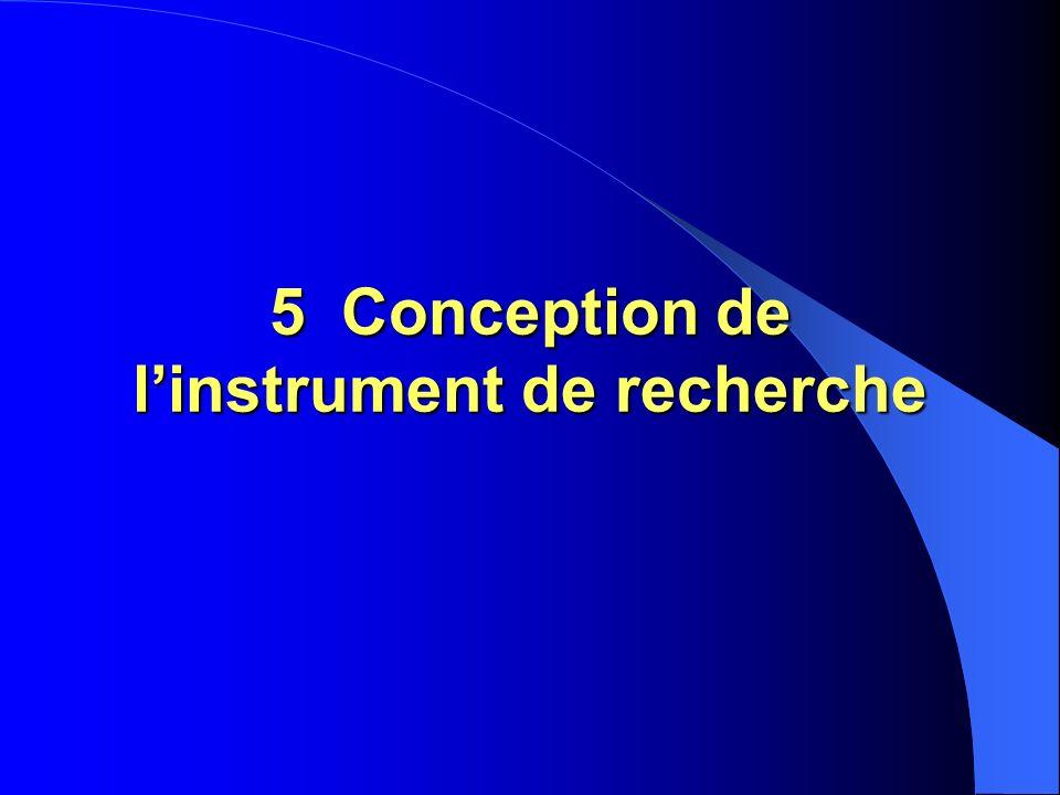 5 Conception de linstrument de recherche