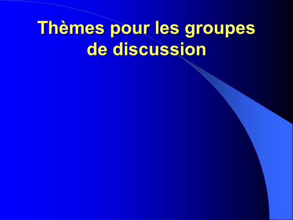Thèmes pour les groupes de discussion