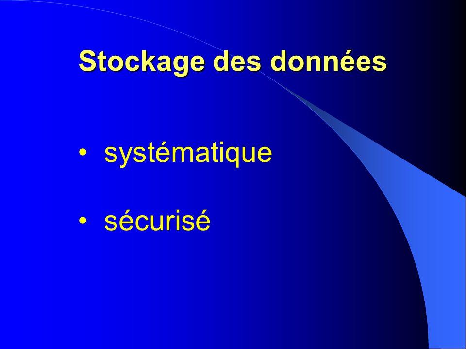 Stockage des données systématique sécurisé