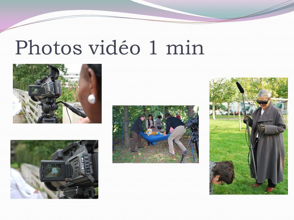 Photos vidéo 1 min