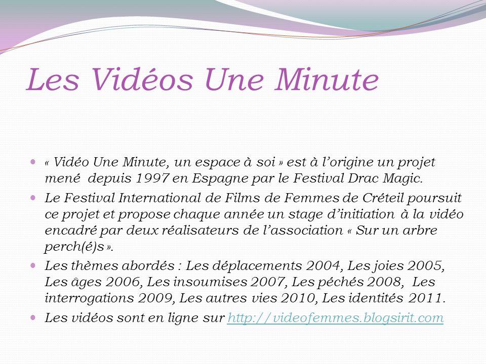Les Vidéos Une Minute « Vidéo Une Minute, un espace à soi » est à lorigine un projet mené depuis 1997 en Espagne par le Festival Drac Magic.