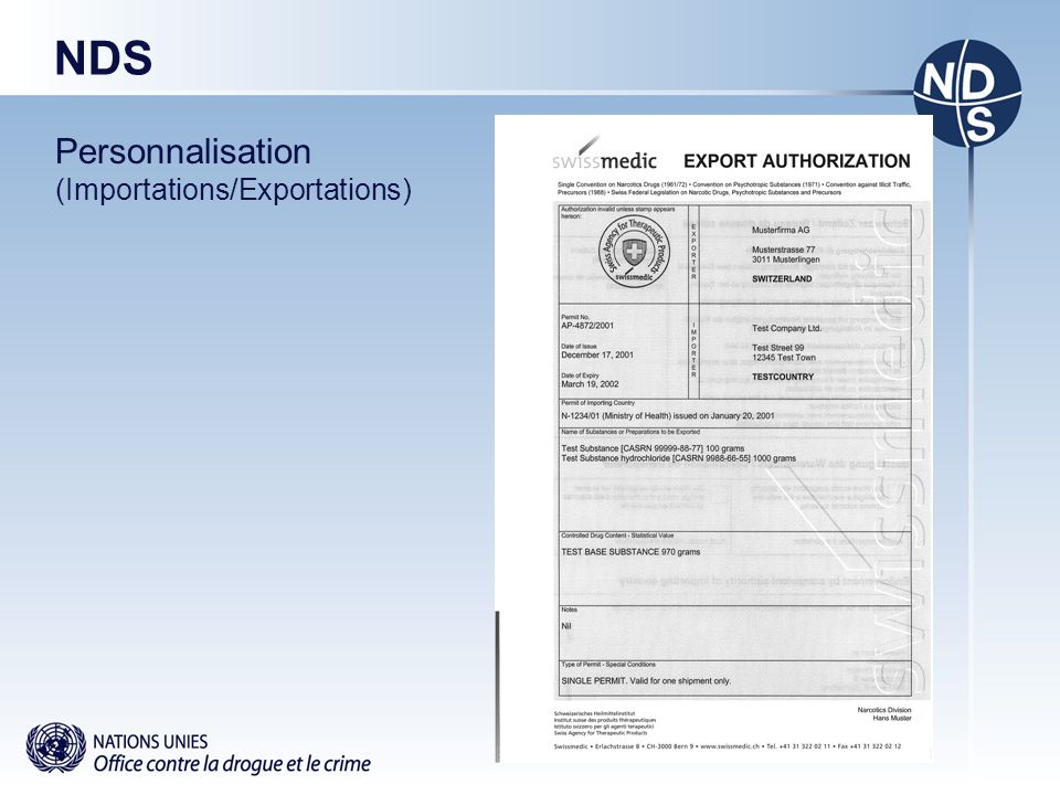 NDS Personnalisation (Importations/Exportations)