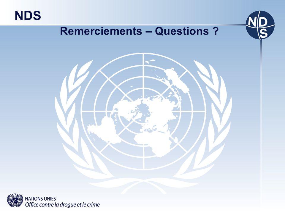 NDS Remerciements – Questions ?