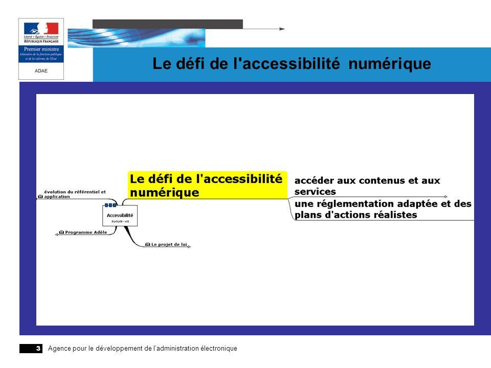 Agence pour le développement de ladministration électronique 3 Le défi de l'accessibilité numérique