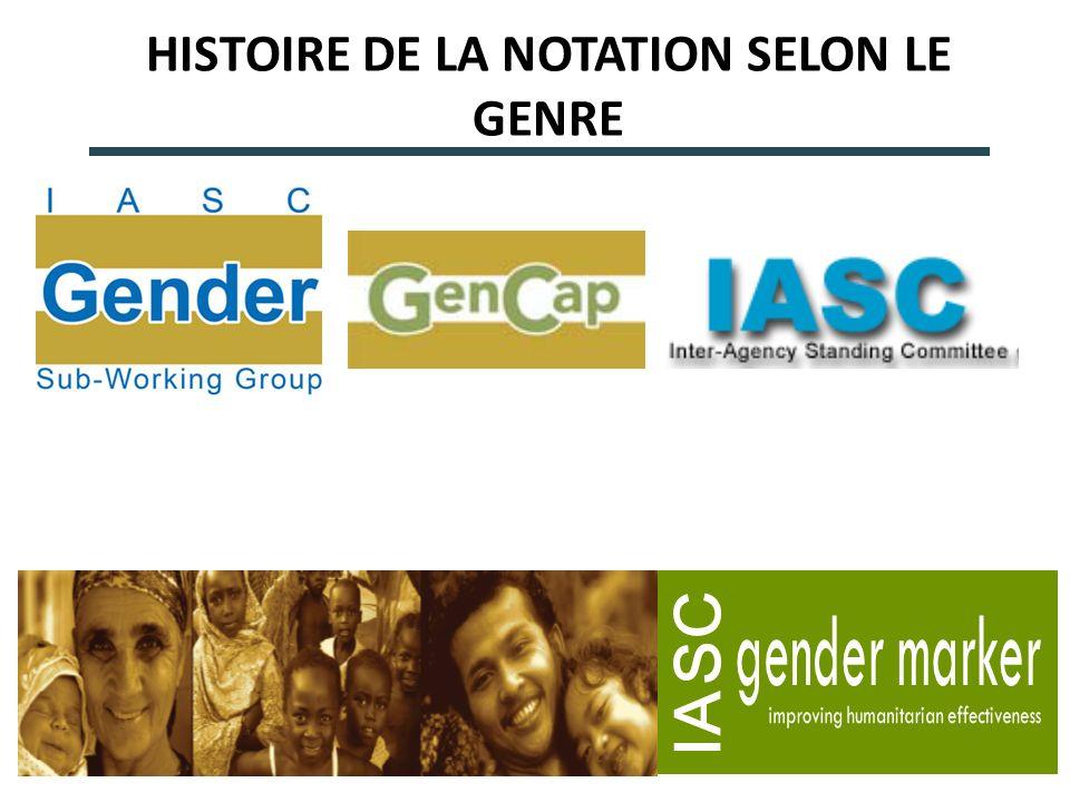 HISTOIRE DE LA NOTATION SELON LE GENRE