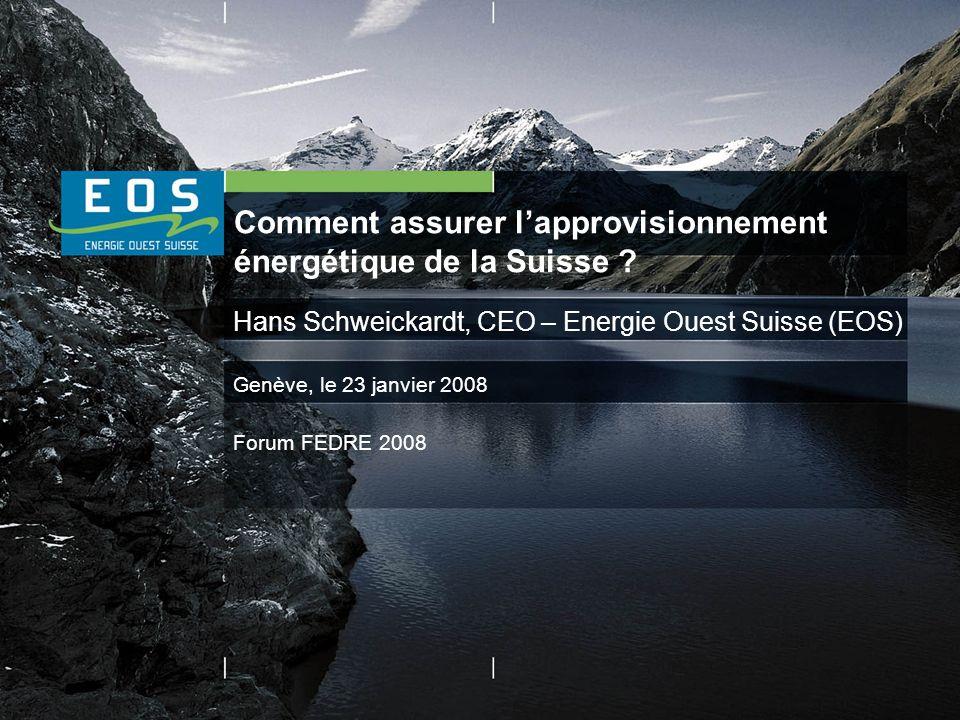Comment assurer lapprovisionnement énergétique de la Suisse .