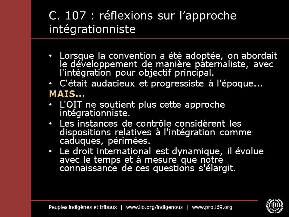 Peuples indigènes et tribaux | www.ilo.org/indigenous | www.pro169.org C.