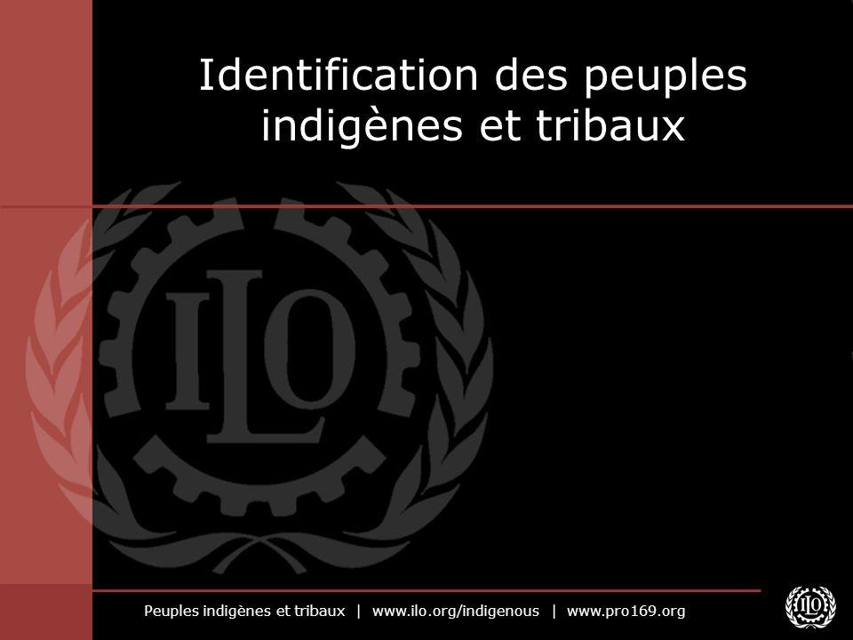 Peuples indigènes et tribaux | www.ilo.org/indigenous | www.pro169.org Identification des peuples indigènes et tribaux